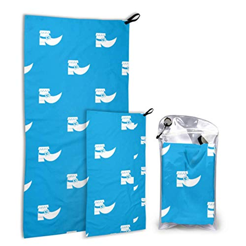 Xuyonh Cute Fashion Creative Magic Boots 2 Pack Microfiber Pool Towel Camping Towel Set Fast Drying Best for Gym Travel Backpacking Yoga Fitnes