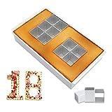 Tortiera con Numero,Alluminio Antiaderente con Numeri e Lettere,Tortiera di Numeri e Lettere,Torte Fai Da Te in Alluminio Antiaderente,Numeri Teglia.