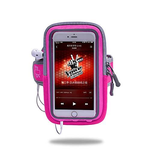 Zyangg-Home Sports de Plein air Sac Bras Courir Sports Téléphone Mobile Bras Sac Bras Bracelet Sangle Fitness Sac Bras Téléphone Sac de Rangement (Color : Red, Size : 5.2-6 inch Phone)