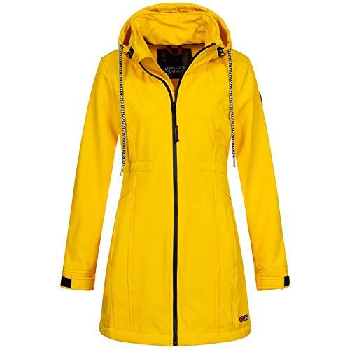 A. Salvarini Damen Softshell Funktions Outdoor Regen Jacke Sport lang AS187 [AS-187-Gelb-Gr.M]