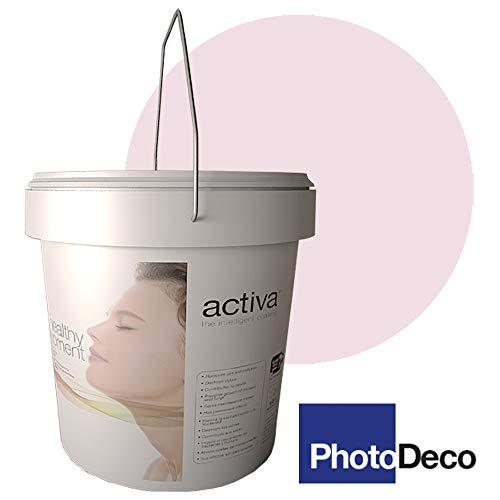 PHOTODECO ROSA. Pintura Fotocatalítica. Lavable para interior. Antivirus y Antibacterias, Descontaminante, Antiolores, Autolimpiable. 4L