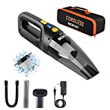 BOKIC Car Vacuum Cleaner Cordless, Portable High Power 8000Pa Rechargeable, Small Mini Handheld Detailing Cleaning Kit for Women/Men