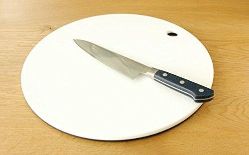 栗原はるみまな板(丸)35cmネイビー×ホワイトHK11622
