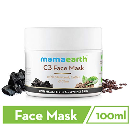 Mamaearth Charcoal, Coffee and Clay Face Mask, Made in the Himalayas All Natural with Organic Ingredients