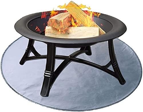 LXNQG Fire Cup Mat, Fire Pit Matte, Grill Fireproof Underlay 24 '' Round Protective Mat for Wood Fire Pit/Gas Fire Pit/Charcoal Grill/Grill Smokers/Outdoor Terrace and Grass