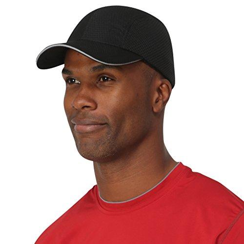 TrailHeads Race Day Performance Running Cap | The Lightweight, Quick Dry, Sport Cap for Men – Black