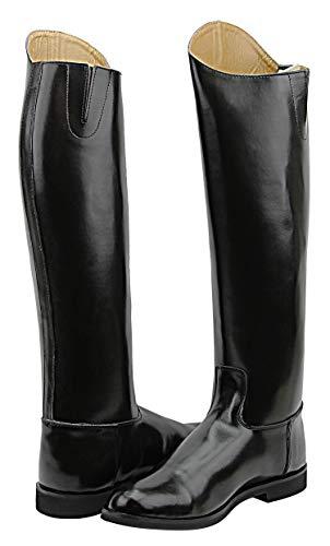 Hispar Mens Man Decent Dress Dressage Boots Pull On Riding English Equestrian Black