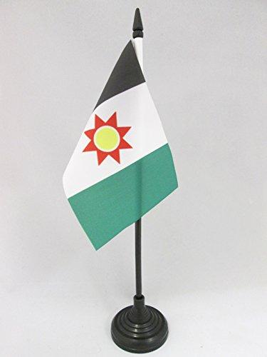 AZ FLAG TISCHFLAGGE AUTONOME Region Kurdistan IRAK 15x10cm - KURDISCH TISCHFAHNE 10 x 15 cm - flaggen