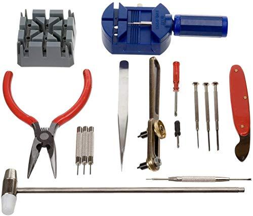 AKORD 16 pcs Deluxe watch opener tool kit repair pin Remover