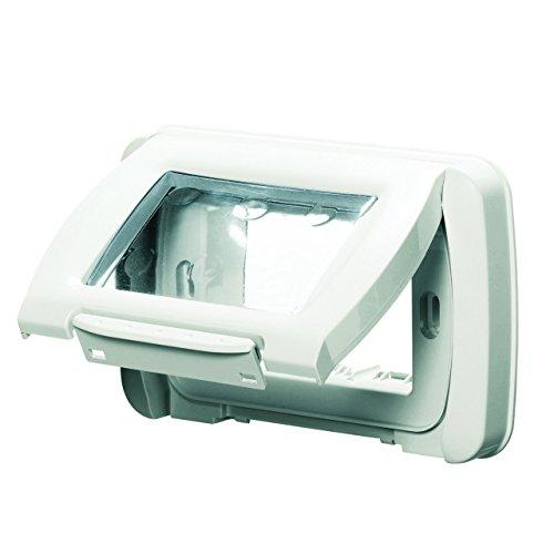 Gewiss GW22451 caja de tomacorriente - Caja registradora Color blanco