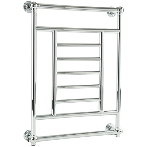 Read About SOLENT Wall Mount Towel Warmer 34 x 26 Hydronic Black