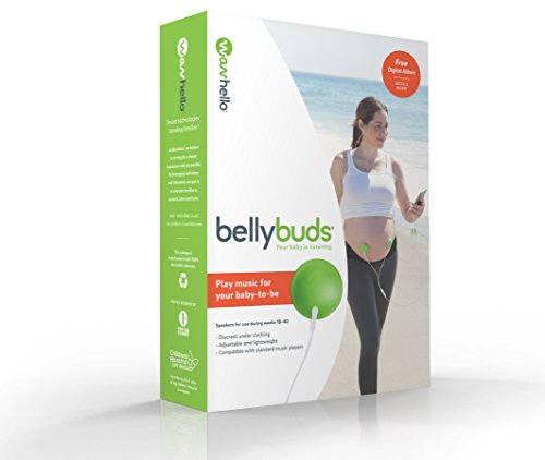 BellyBuds, Baby-Bump Headphones | Prenatal Bellyphones Pregnancy Speaker System Plays Music, Sound and Voices to the Womb, by WavHello
