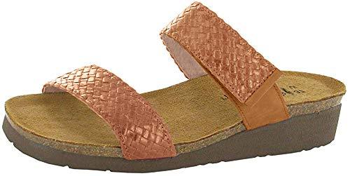 Naot Footwear Women's Blake Wedge Sandal Maple Braid/Amber Nubuck 6 M US