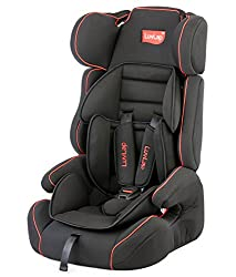 LuvLap Comfy Car Seat for Baby & Kids from 9 Months to 12 Years (Black),Luvlap