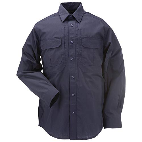 5.11 Tactical Series Taclite Pro Shirt Long Sleeve Chemise Homme, Dark Navy, FR : S (Taille Fabricant : S)