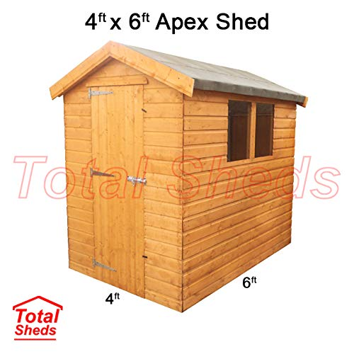 Total Sheds 6ft (1.8m) x 4ft (1.2m) Shed Apex Shed Garden Shed Timber Shed