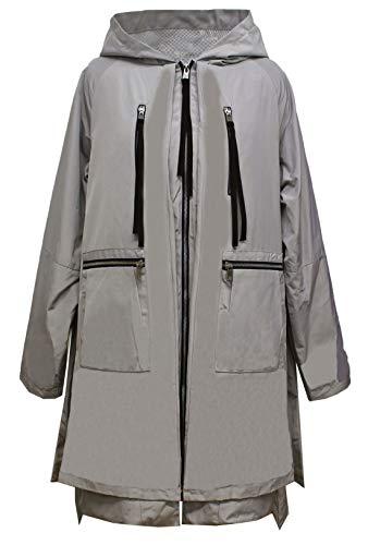 Gallery Women's Hooded Rain Jacket, Pale sage, Medium