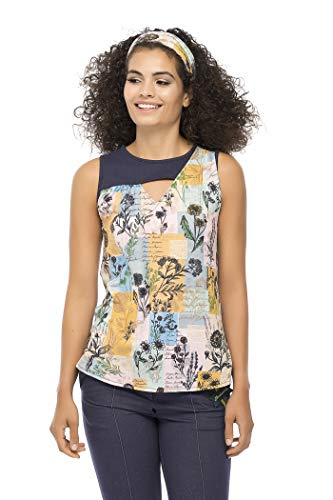 Mamatayoe CORIANDRUM Camiseta, Estampado, XL para Mujer