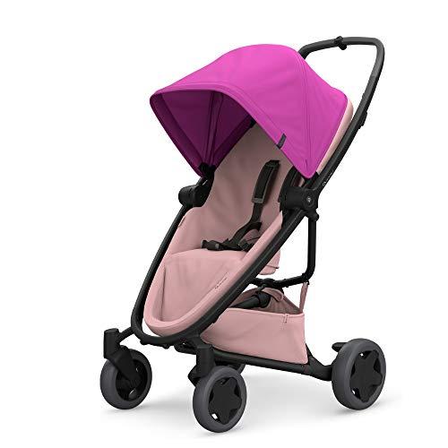 Quinny Zapp Flex Plus Buggy, stylischer Kinderwagen mit viel Komfort und Flexibilität, leicht und extrem kompakt zusammenfaltbar, nutzbar ab der Geburt (z.B. mit Lux Babywanne), pink on blush