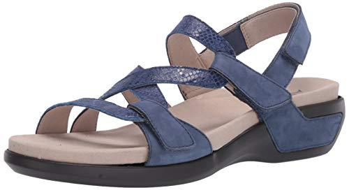 Aravon womens Power Comfort S Strap Sandal Blue Multi 10 Narrow