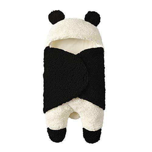 Solike Bébé Unisexe Gigoteuses et Nids d'ange en Coton Confortable Doux Enfants Sac de Couchage Couverture pour Dors Bien et Garder Chaud Hiver (0-12 Mois, Panda)