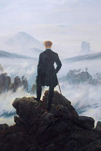 """Caspar David Friedrich Planner #1: Wanderer Above The Sea Of Fog Caspar David Friedrich Weekly And Monthly Planner And Organizer 6x9"""" To Write In. Cool Artist Gifts."""