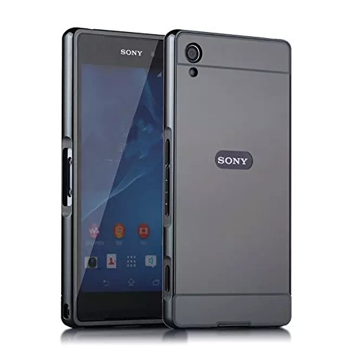 Sony Xperia XA Ultra Case, Ranyi [Mirror Series] Luxury Aluminum Metal Bumper Frame Detachable + Bling Mirror Hard Back Cover [Thin Fit & Slim] Case for Sony Xperia XA Ultra /Xperia C6 (black)