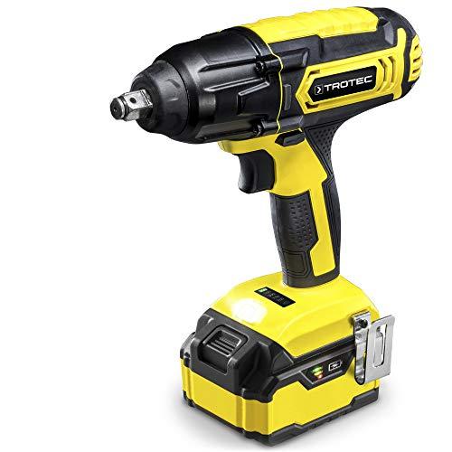 TROTEC Destornillador de impacto con batería PIWS 10-20V, Lámpara de trabajo LED integrada, Batería múltiple Flexpower 20 V 4,0 Ah, Carga rápida, Clip para cinturón, Compacto, Bricolaje, Artesanías