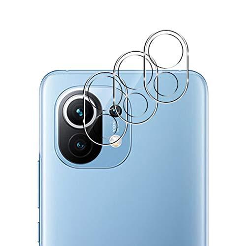 Aerku Kamera Panzerglas Schutzfolie Kompatibel mit Xiaomi Mi 11 5G, HD Kamera Glas Protector Kameraschutzfolie Anti-Kratzer Folie Hochauflösend Panzerglasfolie - Transparent[3 Stück]