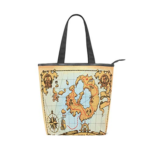 Ancient Rome Navigation Map Large Utility Canvas Tote...