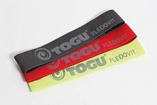 TOGU FLEXVIT - Mini Banda de Fitness con 3 grosores Diferentes de Resistencia, para Gimnasia, Individual o en Set