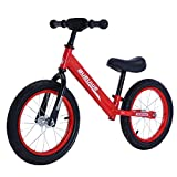 DFBGL Bicicleta de Equilibrio para niños, Ruedas de 12 Pulgadas y 14 Pulgadas, Bicicleta de Entrenamiento para niños sin Pedal, Estable y Segura