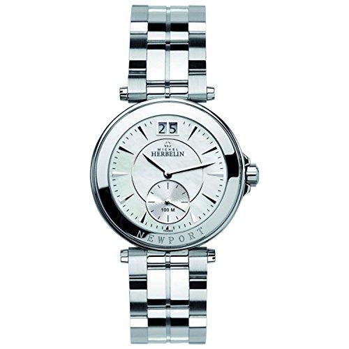 Michel Herbelin Damen Analog Quarz Uhr mit Edelstahl Armband 18266/B19