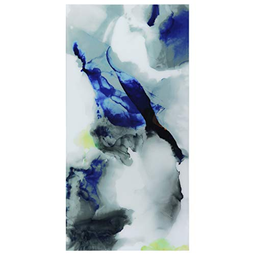 Empire Art Direct Abstract Art,Blue Frameless Tempered Glass Panel,Contemporary Wall Decor Ready to...