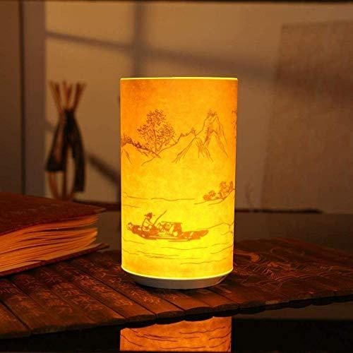 GEZHF Lambskin - Lámpara de noche con detección remota por infrarrojos, función de temporización, larga espera, creativa, escultura de papel, luz nocturna (color : Style4)-Style1