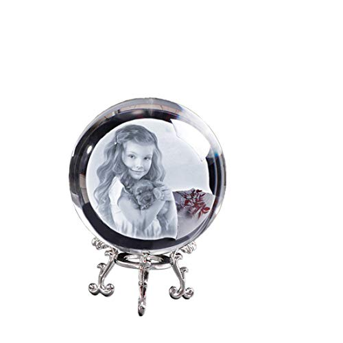 Bola de fotos de cristal personalizada imagen personalizada esfera globo accesorios de decoración del hogar foto de bebé regalo para novia