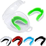 MENOLY 5 Pack Sports Mouth Guard for Youth/Adults for Football Basketball Boxing MMA Hockey with Free Case Custom Fit Sports Mouthguard for Youth/Adults