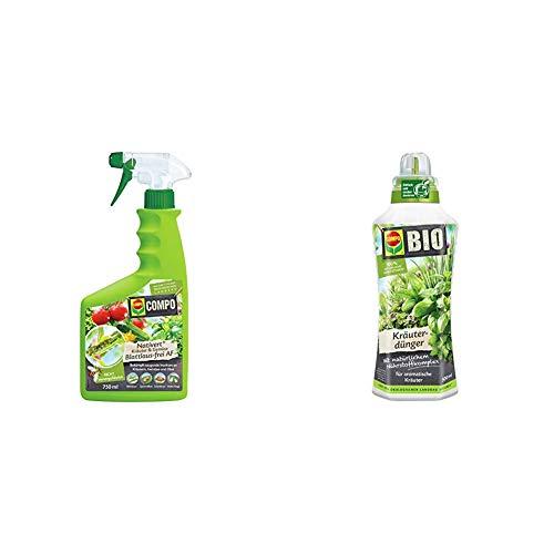 Compo Nativert Kräuter & Gemüse Blattlaus-frei AF, Bekämpfung von saugenden Insekten an Kräutern und Gemüse, 750 ml & Bio Kräuterdünger für alle Gewürzpflanzen und Kräuter, 500 ml