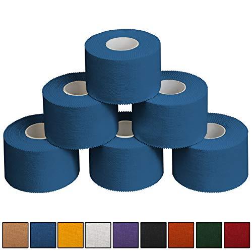 ALPIDEX 6 x Sport-Tape 3,8 cm x 10 m, Farbe:blau