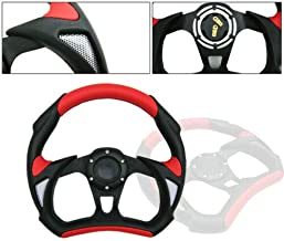 Polaris RZR Steering Wheel with Adapter for 570 800 900 1000 RED