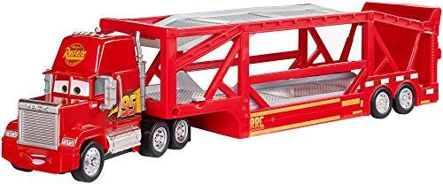 Disney Cars 3 Mack camión mundo de aventuras, coche transportador de juguetes (Mattel FLG70)