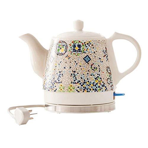 Bouilloires électriques en céramique Bouilloire sans fil Teapot-Retro 1L Jug, 1200W eau rapide for thé rapide 8bayfa