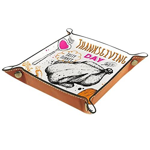Bandeja de cuero,Calabaza de comida del día de acción de gracias ,Bandeja...