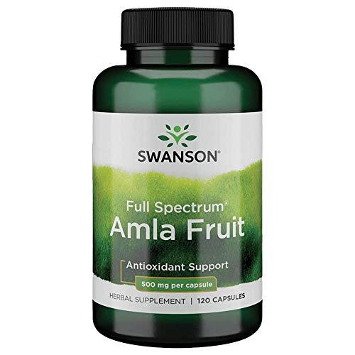 Swanson Full Spectrum Amla Fruit (Indian Gooseberry) Ayurvedic Energy Vitality Antioxidant 500 Milligrams 120 Capsules