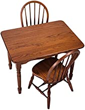 Peaceful Classics Amish Handcrafted Child's Solid Wood Table and 2 Chairs Set - Harvest Finish Great for Playroom