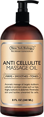 New York Biology Anti Cellulite Treatment Massage Oil - All Natural Ingredients – Infused with...