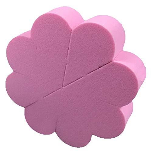 Makeup Sponge 8 pièces Pétale Poudre Puff Beauté Maquillage Éponge Multi-piece Flat Maquillage Eponge Plus grand dans l'eau Mouillé et Sec Double usage Makeup Sponge (Color : Pink)