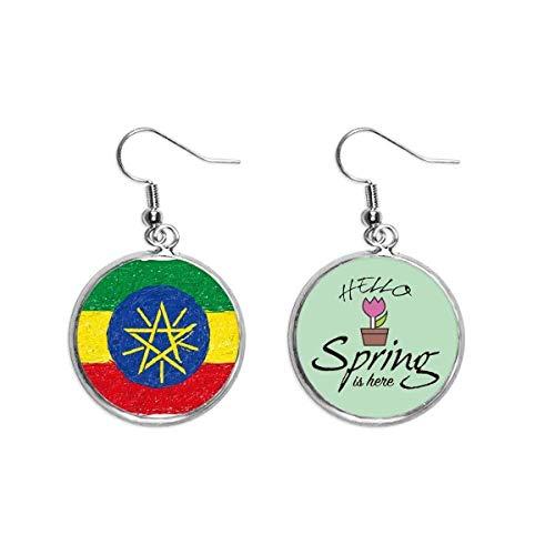Kreide mit Äthiopien-Flagge, zum Zeichnen, Dekoration, baumelnd, für Frühling, Schmuck