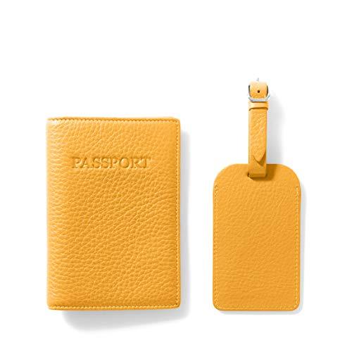 Leatherology Turmeric Passport Cover + Luggage Tag
