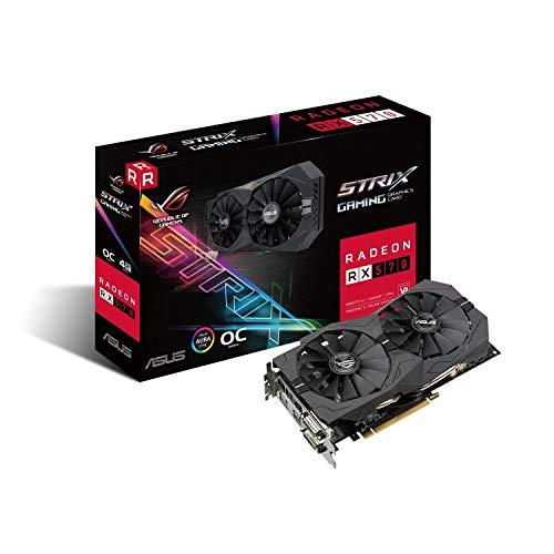 Asus ROG Strix-RX570-O4G-Gaming AMD Radeon Grafikkarte (4GB GDDR5 Speicher, PCIe 3.0, HDMI, DisplayPort) (Generalüberholt)